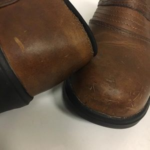 Ariat Shoes - Ariat Slip On Brown Leather Ankle Boot Shoes 8.5